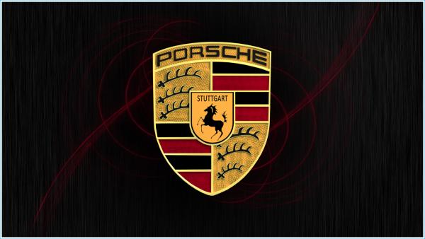 L`emblème de Porsche