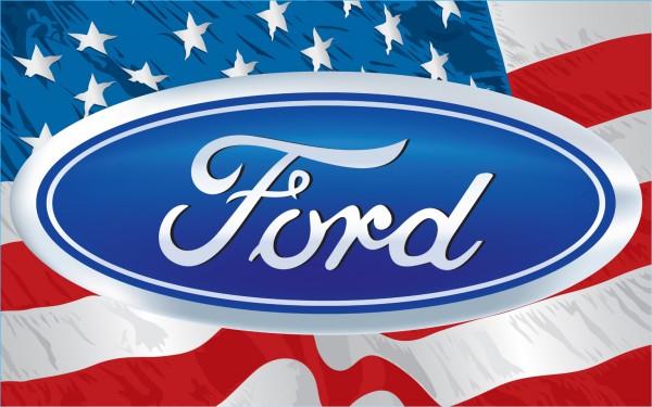La couleur du Logo Ford