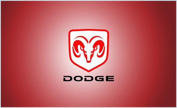 La couleur du logo Dodge