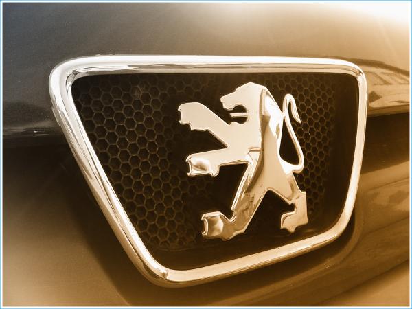La forme du symbole de Peugeot