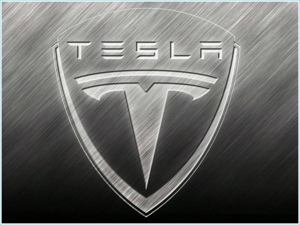 La forme du symbole de la voiture Tesla
