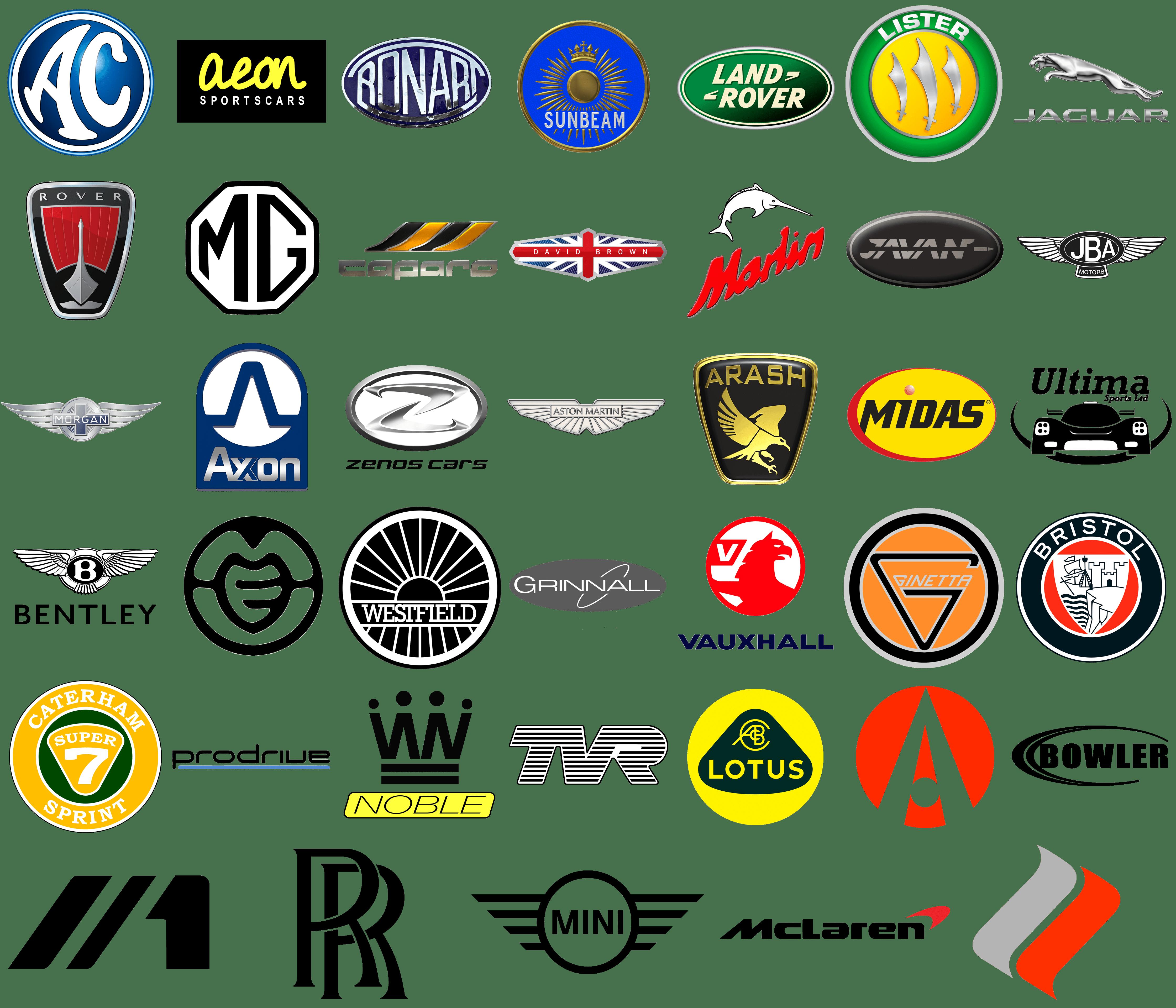 Assez Marques de voiture Angleterre | Les marques de voitures UG15