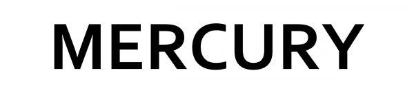Type lettresMercury logo