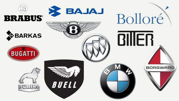 Marques de voitures qui commencent par B