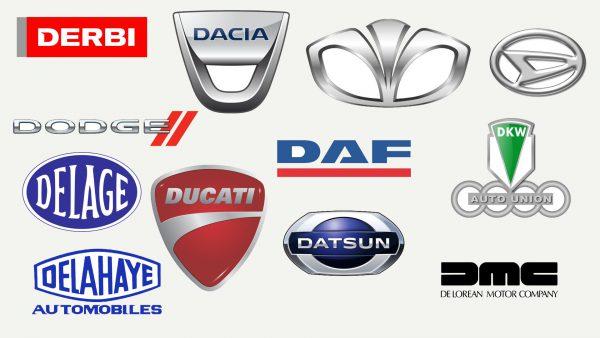 Marques de voitures qui commencent par D