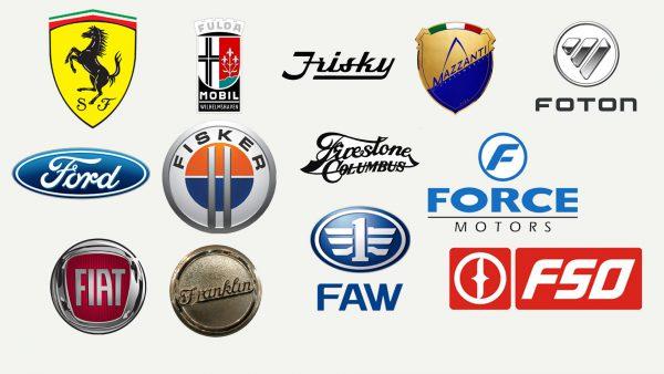 Marques de voitures qui commencent par F