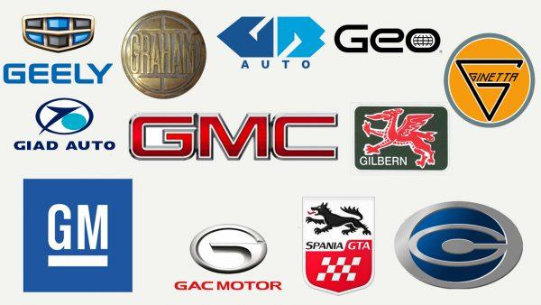 Marques de voitures qui commencent par G
