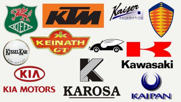 Marques de voitures qui commencent par K