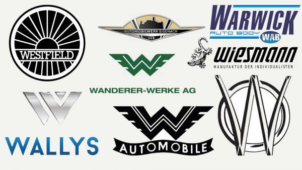 Marques de voitures qui commencent par W