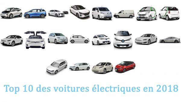 Top 10 des voitures électriques en 2018