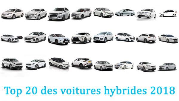 Top 20 des voitures hybrides 2018