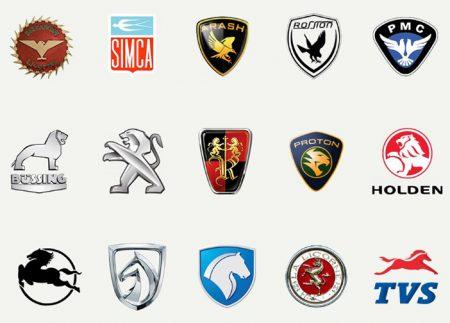 55 logos de voiture avec des animaux