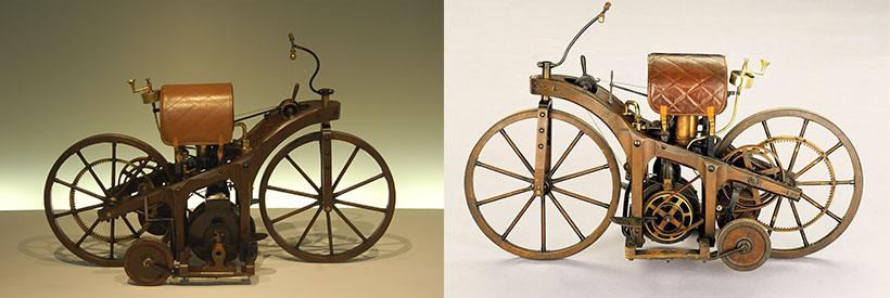 La première moto à moteur à combustion interne