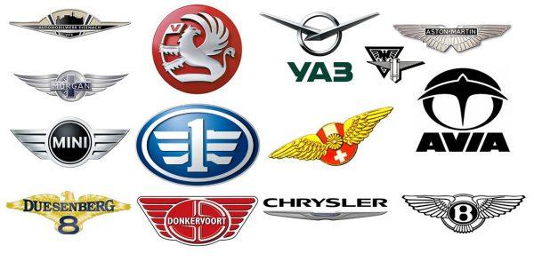 Logos de voitures ailés