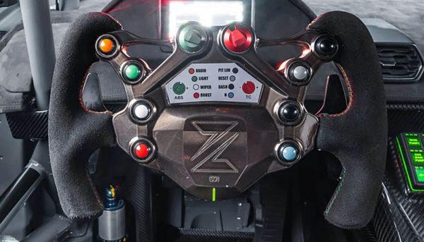 Zyrus logo steering wheel